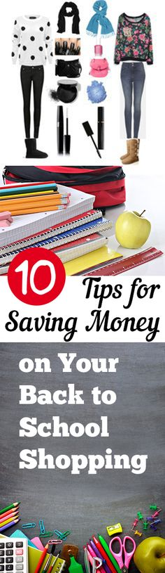 10 Ways to Save Money on Your Back to School Shopping