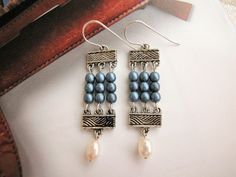 Elegant beaded curtain dangle earrings have great movements on your ears.