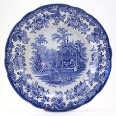 Spode blue zoological plate