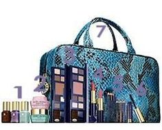 Estee Lauder Cosmetic Bag with Deluxe Sample of Skincare Makeup Set-2 $33.95