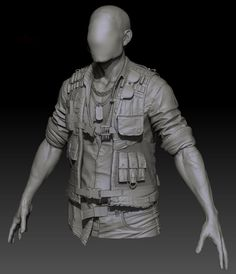 ArtStation - Clothing sculpt 1, Jon Berry