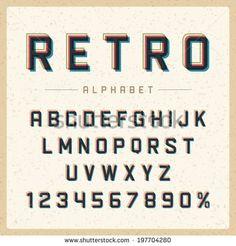 Image Result For Vintage Typography Alphabet