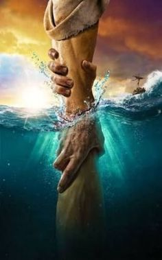 The directional love of God keeps us from sinking. Keep our heart's set on the Voice of His Son Jesus Christ. God Bless YOU! Art Prophétique, Image Jesus, Prophetic Art, Biblical Art, Jesus Pictures, Pics Of Jesus, Jesus Is Lord, I Love Jesus, Jesus Loves You