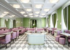 <p>One of Trendland's favorite interior designer, India Mahdavi recently finished the latest Ladurée interior in the Four Seasons Hotel at the Quai des Bergues in Geneva. The patisserie, restaur