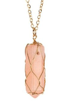 Gilded Cage Crystal Pendant Necklace