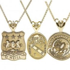 Add your Coat of Arms to a fab pendant Coat Of Arms, Gold Necklace, Pendants, Jewelry, Gold Pendant Necklace, Jewlery, Jewerly, Family Crest, Hang Tags