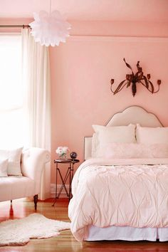 ♡ Home Pink Home ♡  pink bedroom simplicity