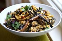 Mushroom Kale Rice Bowl from Babble via Going Home to Roost