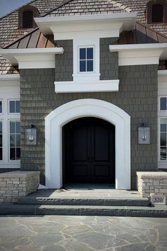 33 beautiful exterior home design trends 24 Tiny House Exterior, House Paint Exterior, Exterior House Colors, Exterior Design, House Exteriors, Design Hotel, Home Design, Design Ideas, Design Trends