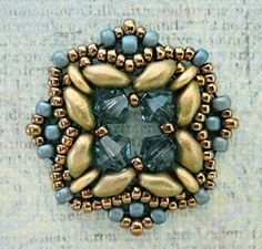"Linda's Crafty Inspirations: Playing with my beads...trying to recreate Puca's ""Rani"" colors"