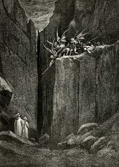 nigra-lux: DORÉ, Gustave (1832-1883) Illustration for the Divine Comedy (Inferno, Canto XXIII, vv. 52-54)EngravingEd. Orig.