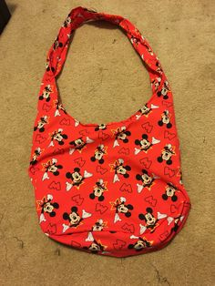 A personal favorite from my Etsy shop https://www.etsy.com/listing/526446309/mickey-mouse-hobo-bag