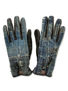 Fell head over heels for the Japanese brand Kapital. This gloves demonstrate both their love of a distressed workman's look and the high degree of detail they put into every piece. -Suz