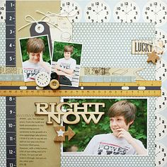 Right Now scrapbook layout