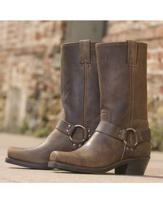Frye Harness:http://www.countryoutfitter.com/products/32475-womens-crazy-horse-harness-12r-boot-tan/?lhb=style&lhs=p