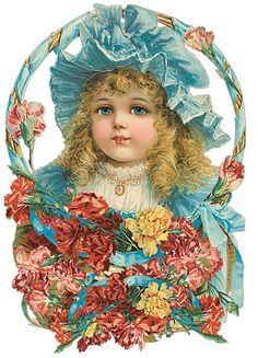 Bild einbinden:-Victorian Die-Cut--Victorian Scrap Éphémères Vintage, Images Vintage, Decoupage Vintage, Vintage Ephemera, Vintage Girls, Vintage Pictures, Vintage Children, Vintage Prints, Victorian Paper Dolls
