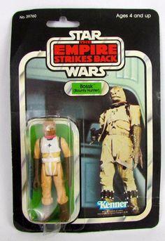 Vtg 1980 Star Wars BOSSK 32 Back Kenner ESB MOC HK Empire Strikes Back #Kenner