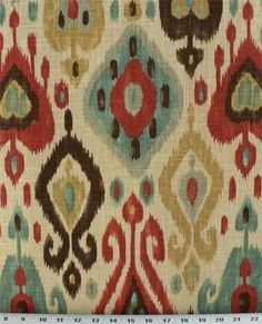 Ikat curtain fabric