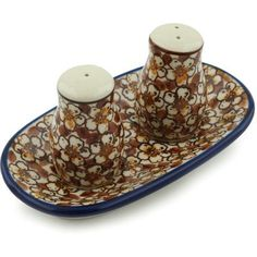 Polish Pottery Salt and Pepper Set 5-inch *** Remarkable product available now. : Salt Pepper Shaker