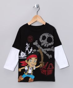 Take a look at this Black Skull Layered Tee - Toddler on zulily today!