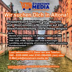 Shopbetreuer gesucht für Magento und WooCommerce - https://www.storetown-media.de/shopbetreuer-gesucht-fuer-magento-und-woocommerce/