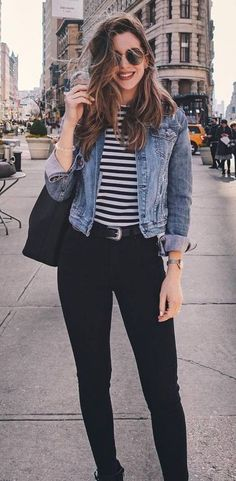 The 50 Best Street Style Outfits This Year - . - The 50 Best Street Style Outfits This Year – - Best Street Style, Street Style Outfits, Mode Outfits, Jean Outfits, Fashion Outfits, Skirt Fashion, Jackets Fashion, School Outfits, Basic Outfits