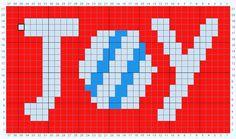 Joy  Motif Crochet Chart - Free pattern with tutorial on myhobbyiscrochet.com