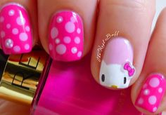 A little girl's dream!  From The Nail Buff: Hello Kitty (Copy-Cat)
