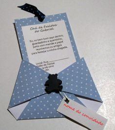 Convite fralda de papel