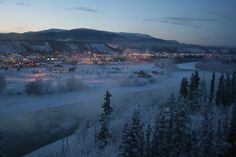 Whitehorse, Yukon. A little bit of modern in the middle of nowhere. Only been ther in summer. It's the wild west fer sure!