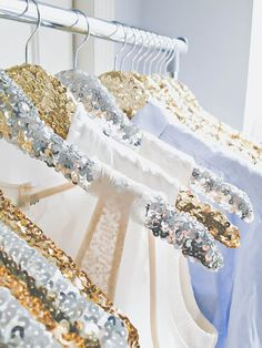 Love this!!!  It's a great DIY just take some sparkles and glue them on hangers that u already have!!