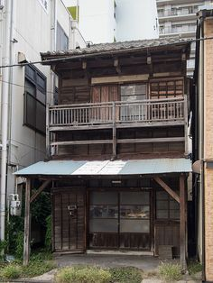 Old wooden Japanese house