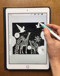 Block Print Style Illustrations on Your iPad + Free Block Print Stamps and Textures for Procreate Ipad Drawing App, Adobe Illustrator, Create Drawing, Photoshop, Hand Drawn Flowers, Digital Painting Tutorials, Ipad Art, Free Downloads, Textile Prints