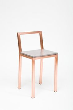 Barstool 2: Copper Slight Chair - contemporary - bar stools and counter stools - Assembly Design