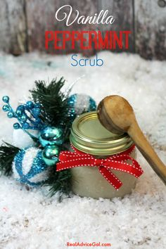 Vanilla Peppermint Body Scrub Recipe, a nice homemade holiday gift