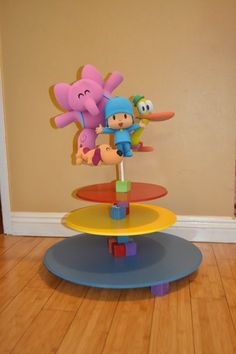 Pocoyo Cupcake stand by SOUTHFLOWER on Etsy, $40.00