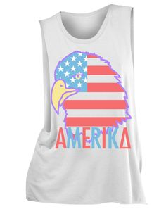 "Kappa Delta America Eagle Muscle Tank Adam Block Design - Love this - Use code ""fsuKL1001"" for 10% off your first order and 5% off every order after!"