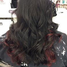 Black and Red! #black #red #highlights red highlights