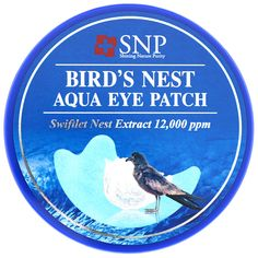 Bird's Nest Aqua Eye Patch, 60 Patches - iHerb Swiftlet Nest, Imperial Units, Aqua Eyes, K Beauty, Beauty Stuff, Protective Packaging, Natural Health, Vitamins, Patches