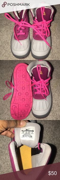 """Kids ACG boots Kids ACG boots Great for winter and snow!! """"Like new condition"""" Nike ACG Shoes Boots"""