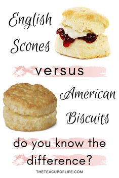 There are some similarities with the two, but scones and biscuits are not equal. The difference between them come down to how they are made and enjoyed. English Scones, English Food, Tea Party Desserts, High Tea Food, Tea Biscuits, Angel Biscuits, Afternoon Tea Recipes, Savory Scones, Tea Sandwiches