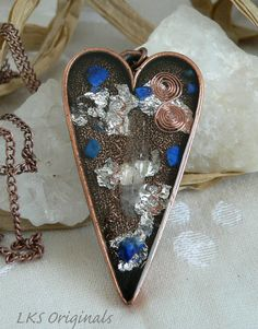 Copper Heart Orgone Positive Life Force Energy by LKSoriginals