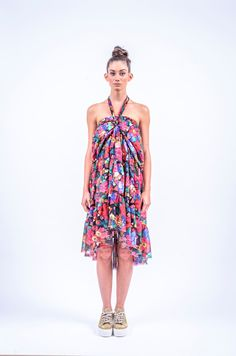 Romani Design, ss17, wanderers of the worlds, roma, gypsy, stripes, striped, floral, print, rose, roses, fashion, flower, flowers, outfit, spring, summer, dress, skirt, midi, maxi, neck, strap Dress Skirt, Gypsy, Roses, Spring Summer, Stripes, Skirts, Flowers, Outfits, Design
