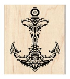 Inkadinkado Mounted Mindscape Anchor Rubber Stamp