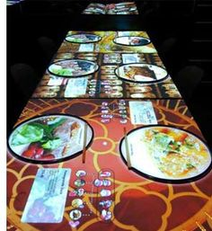 London's Inamo restaurant with interactive tables