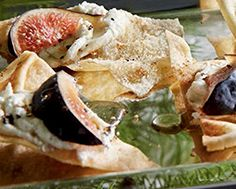 Whipped Feta with Figs, Honey & Pita Chips - Whipped Feta with Figs, Honey & Pita Chips - No Cook Appetizers, Whipped Feta, Dried Figs, Chips Recipe, Recipe Details, Chips Chips, Chips Food, Serving Dishes, Clean Recipes