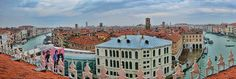 A Rooftop Panoramic View  Venice has a new luxury department store, housed in a 13th century building that was the headquarters of the city's German merchants. T Fondaco dei Tedeschi only opened in October yet has already secured many exclusive collaborations with leading luxury brands. It's part of the DFS luxury retail group and their first European store. The building has been sympathetically redesigned by award-winning architect Rem Koolhaas to respect the original features. On the top…