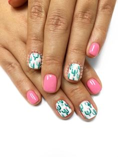 Cactus nails. Phoenix Arizona. Desert nails. Summer nails #PreciousPhan