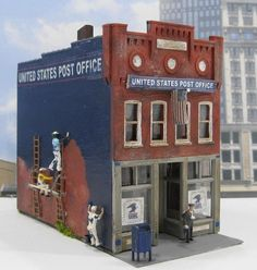 U.S. Post Office HO Scale Model Train Miniatures