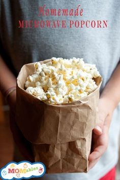 healthy microwave popcorn momables.com This really works! I melt a little butter to put on the popcorn and then lightly salt. It is delicious! I won't buy microwave popcorn anymore!